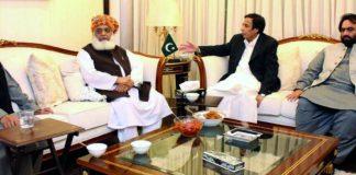 Pervaiz Elahi meets Fazlur Rehman, discuss opposition's demands