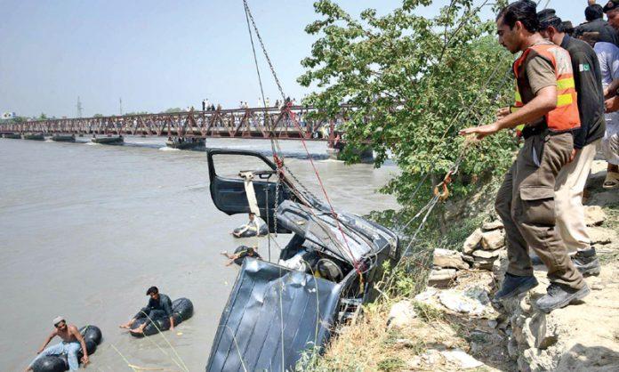 Six people die as car plunges into river in Barikot area of Upper Dir