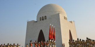 PMA cadets assume guards' duties at Quaid's mausoleum