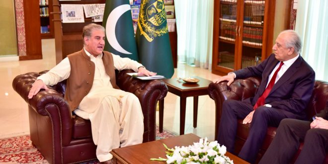 US envoy updates FM Qureshi on Afghan peace process