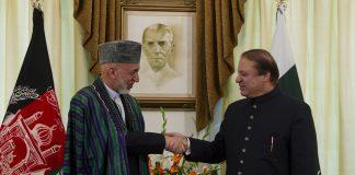 Former Afghan president Hamid Karzai meets Nawaz Sharif in London