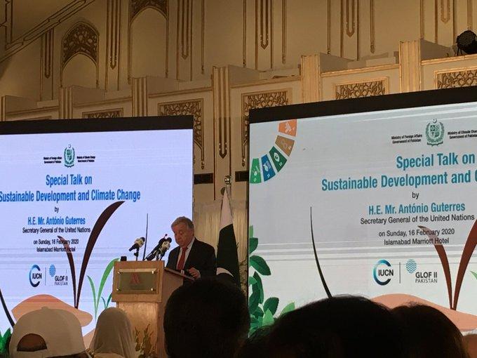 UN chief calls climate change the battle for our lives