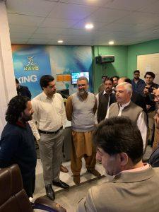 Chief Minister Khyber Pakhtunkhwa Mahmood Khan visits AVT Channels office