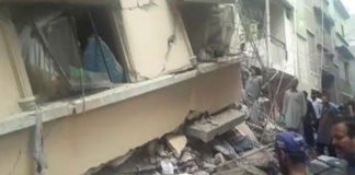 Three killed as building collapses in Karachi's Golimar