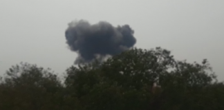 PAF F-16 jet crashes near Shakarparian in Islamabad during parade rehearsal
