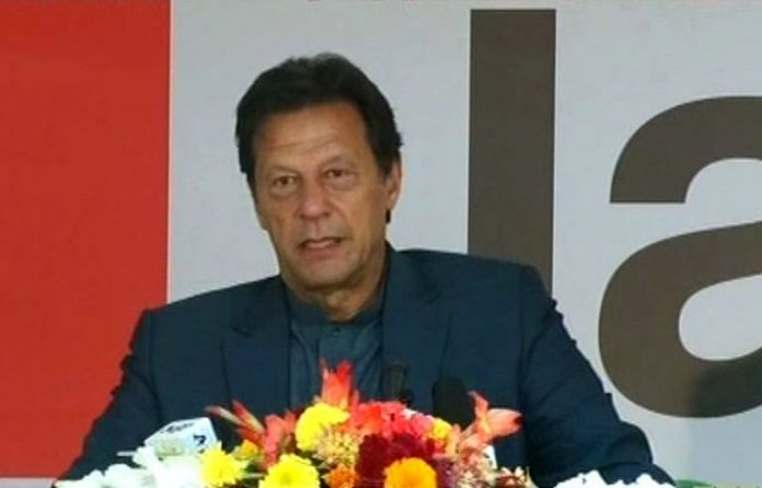 PM Imran lays foundation stone for construction of 20,000 houses