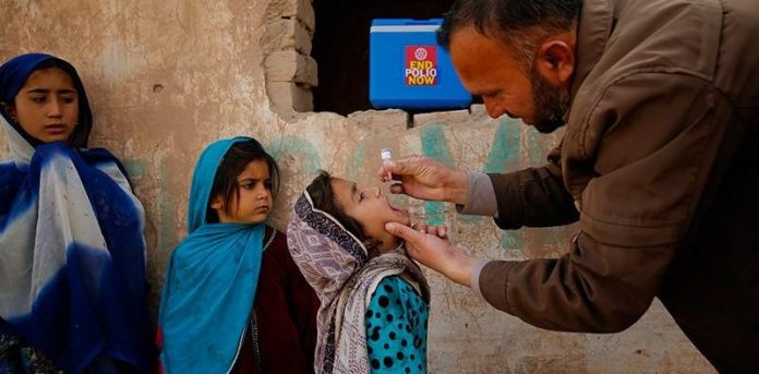 Anti-polio campaign suspended in five districts of KP
