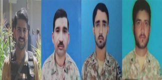 Seven terrorists killed, four soldiers martyred in North Waziristan operation