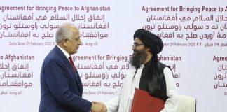 Zalmay Khalilzad meets Taliban leader Mullah Baradar