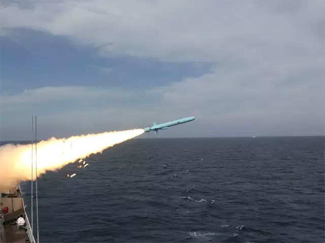 Pakistan Navy demonstrates firing of anti-ship missiles