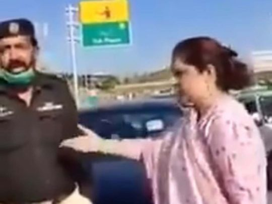 FIR registered against 'colonel's wife' who abused policemen in Mansehra