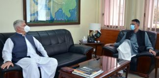 Govt wants to expedite development projects of KP's merged districts: Asad Umar