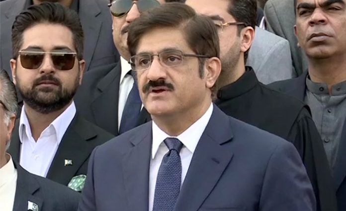 CM Sindh Murad Ali Shah appears before NAB in fake bank accounts case