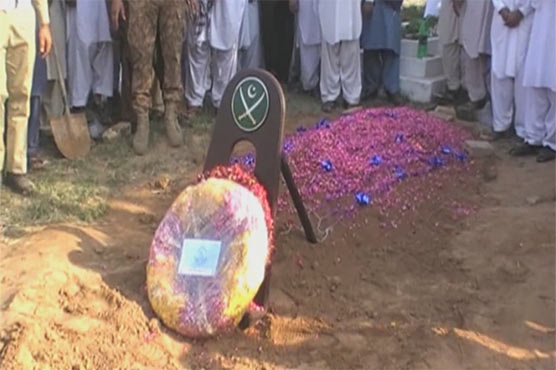 Funeral prayers offered of Captain Sabih martyred in Waziristan