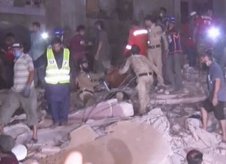 50 feared dead as residential building collapses in Karachi