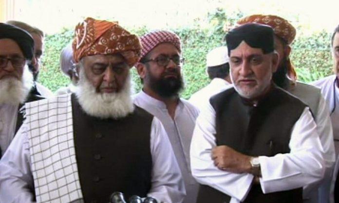 Fazlur Rehman meets Akhtar Mengal, discuss political situation