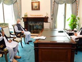 PM Imran Khan, KP Governor, CM discuss overall situation of province