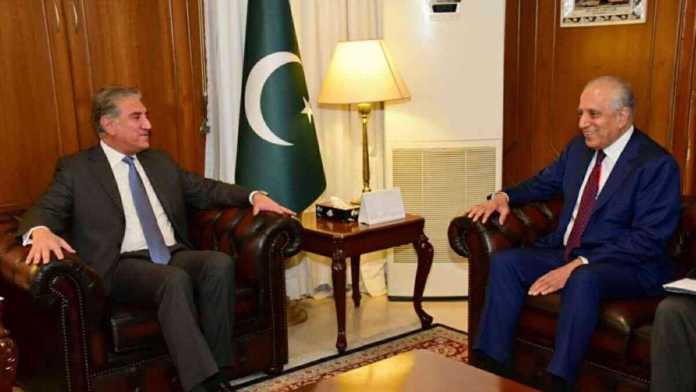 FM Qureshi, Zalmay Khalilzad discuss Afghanistan peace process