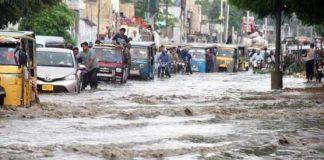 Six killed as torrential rains, thunderstorm wreak havoc in Karachi