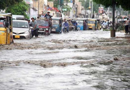 Six killed as torrential rains, thunderstorm wreak havoc in Karachi