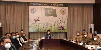 PM Imran Khan visits National Locust Control Center in Islamabad