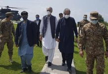 Foreign Minister Qureshi, Defence Minister Pervaiz Khattak visit LoC
