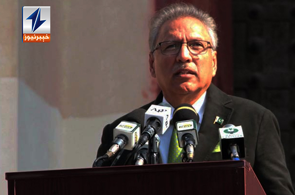 President addresses joint session of parliament, recounts PTI's achievements over 2 years