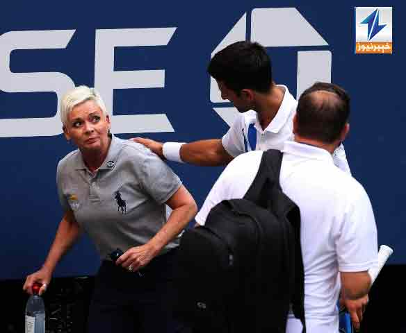 Novak Djokovic was dramatically disqualified from the US Open on Sunday after accidentally striking a female line judge with a ball in frustration during his last-16 match, sending shock waves through the tournament.