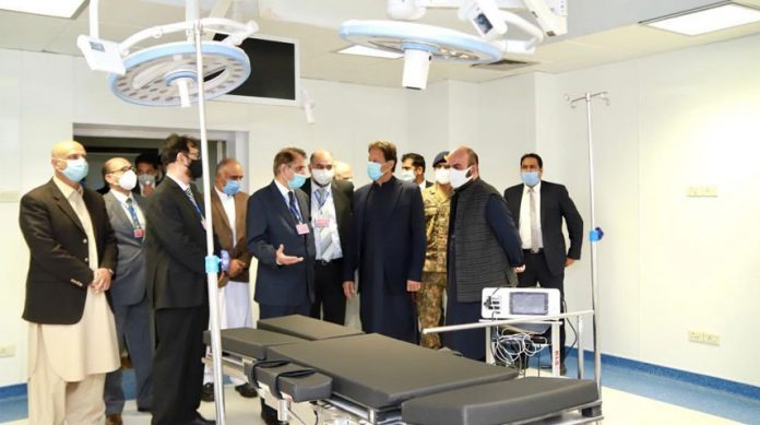 Prime Minister Imran Khan inaugurated Institute of Cardiology in Peshawar on Wednesday