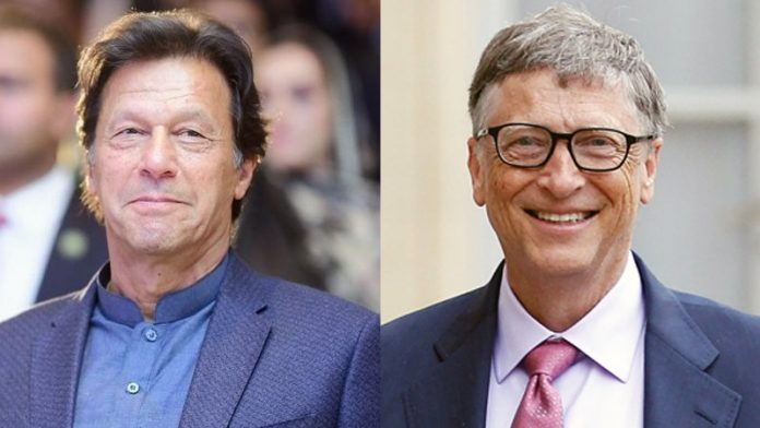 Imran Khan discusses Covid situation with Bill Gates
